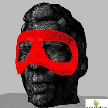 Máscara protección Atlético de Madrid 3d
